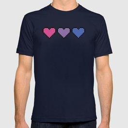 Bisexual Pixel Heart T-shirt