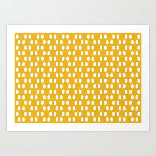 Aelbrecht Yellow Pattern Art Print