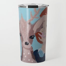~ Oh Deer I Love You ~ 10 year Old Amelia's Art Travel Mug