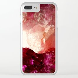 Rosey Quartz Clear iPhone Case
