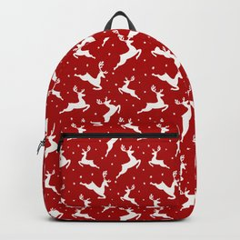 Christmas Reindeer Red Pattern Backpack