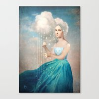 rain Canvas Prints featuring Melody of Rain by Christian Schloe
