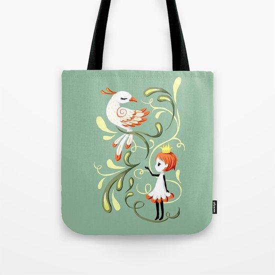 Princess and a Bird Tote Bag