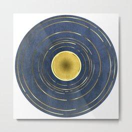 Gold Circle Metal Print