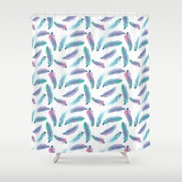 Watercolor Feathers Shower Curtain