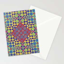 Brite Combo (Acrylic Painting on Paper No. 4) Stationery Cards