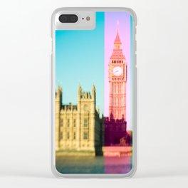 Big Ben Stripe in London Clear iPhone Case