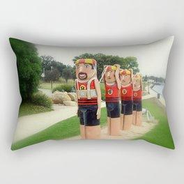 Sculptured 1930s Life Savers Bollards  Rectangular Pillow