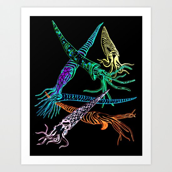 Baculites 2 Art Print