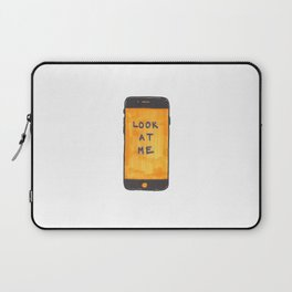 Look At Me iPhone Sketch Laptop Sleeve