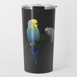 Blue and Yellow Budgerigar Travel Mug
