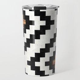 Urban Tribal Pattern No.16 - Aztec - Concrete and Wood Travel Mug