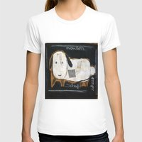 sheep T-shirts featuring sheep by woman