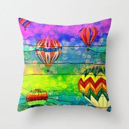 Hot Air Balloons #6 Throw Pillow