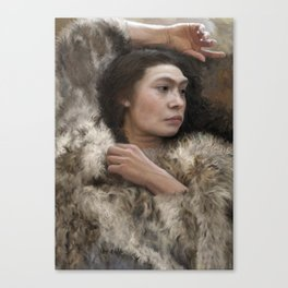 Resting – Neanderthal Woman Canvas Print