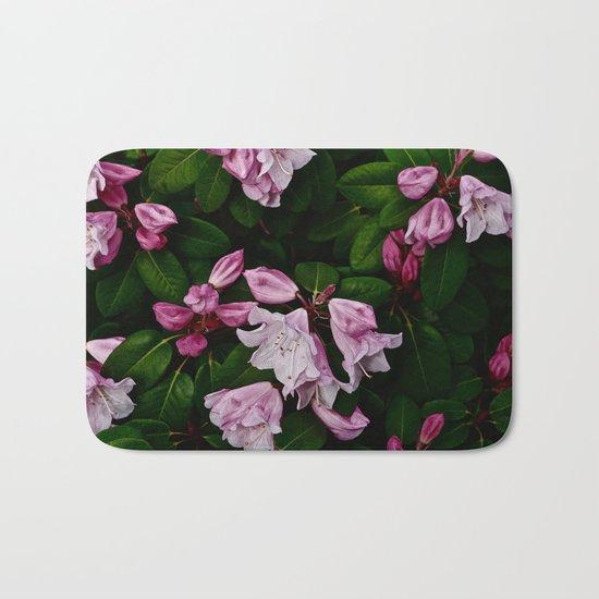 Spring Pink Rhododendron Bath Mat