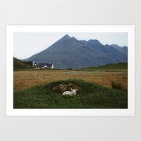 lamb Art Prints featuring Lamb by The Kitcheners