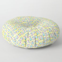 rectangle and abstraction-mutlicolor,abstraction,abstract,fun,rectangle,square,rectangled,geometric, Floor Pillow