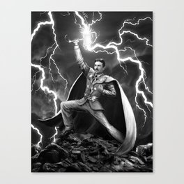 Tesla: God of Thunder Canvas Print