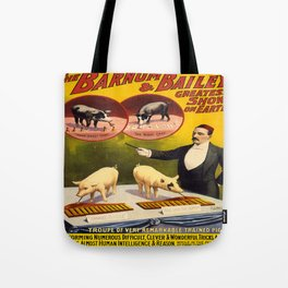 Vintage poster - Trained pigs Tote Bag