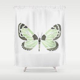 Green Grass Spring Butterfly Shower Curtain