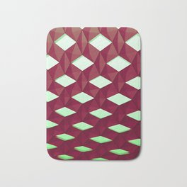 Trapez 4/5 Red and green by Brian Vegas Bath Mat