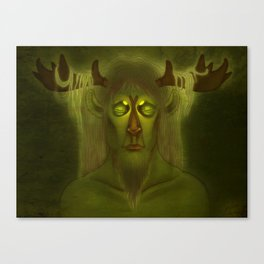 Horned Deity Canvas Print