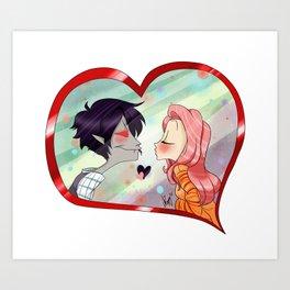 Kiss ? Art Print