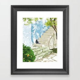 Being a person is getting too complicated. It's time to be a cat. #painting #pets Framed Art Print
