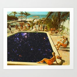 GALAXY POOL Art Print
