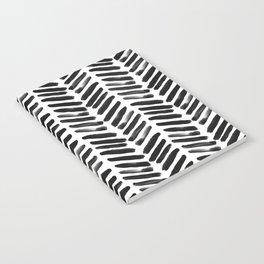 Simple black and white handrawn chevron - horizontal Notebook