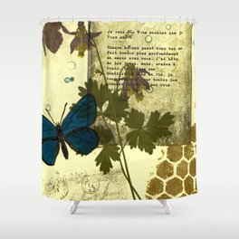 Columbine Love Letters Shower Curtain