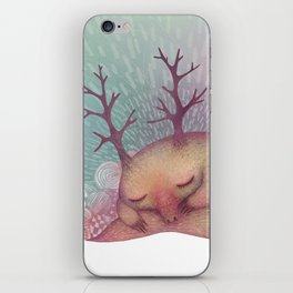 Deep Winter Dreaming (With Eyes Closed) iPhone Skin