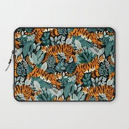 Bengal Tiger Teal Jungle Laptop Sleeve