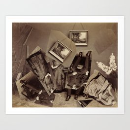 Collapsed Family Art Print
