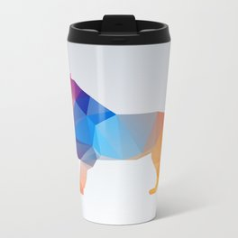 Glass Animal Series - Lion Metal Travel Mug
