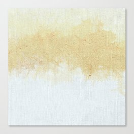 Textured Neutral white and Tan Abstract Canvas Print