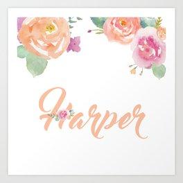 Harper Florals Art Print