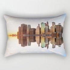 Reflection of Manhattan Rectangular Pillow