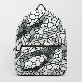 White Marble Abstact Backpack
