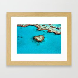 Heart Coral Reef - Queensland, Australia Framed Art Print