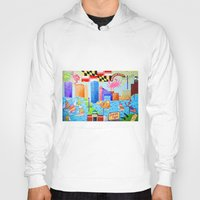 maryland Hoodies featuring Baltimore, Maryland by Karen Riddle