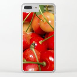 Cherries in a Basket Close Up Clear iPhone Case