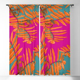 Leaves In Autumn Colors #decor #society6 #buyart Blackout Curtain