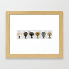 Empire Strikes Back Bounty Hunters Framed Art Print