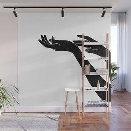 Hands line drawing illustration - Tallula Wall Mural