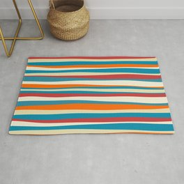 Colorful vintage abstract pattern Rug