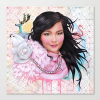 bjork Canvas Prints featuring Bjork by Will Costa
