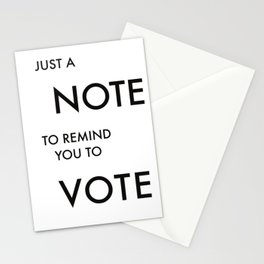 Remember to Vote Note Stationery Cards