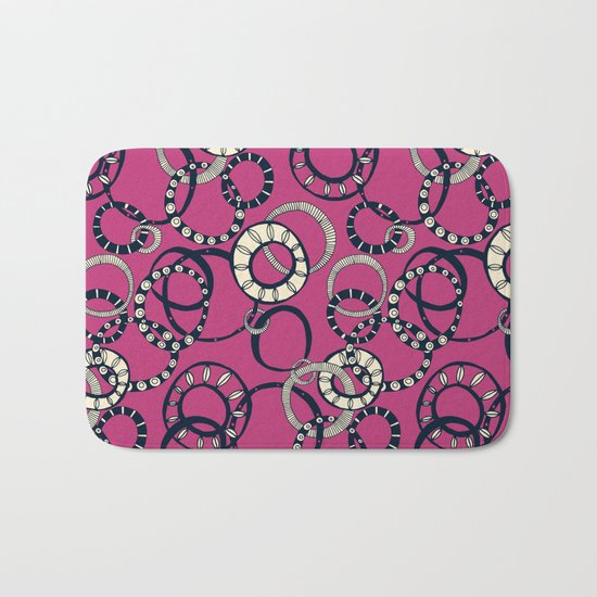 Honolulu hoopla pink Bath Mat